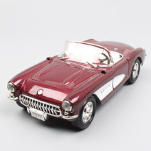 1/24 Scale classic old GM Chevrolet Corvette C1 Vette StingRay 1957 Die casts Vehicles model thumbnails wheels for children toys