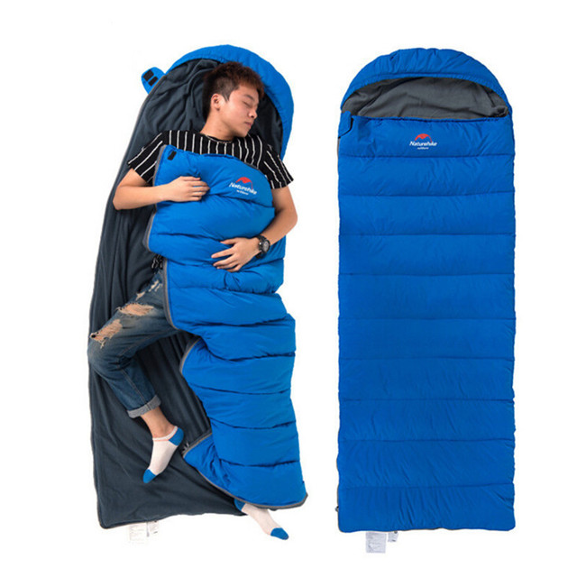 new arrival 5ad6b a22f3 US $95.88 49% OFF|Down Sleeping Bag Winter Adult Double Camping Sleeping  Bag goose down Outdoor Sleep Bags Liner NH 1.7kg Below 0 degree use-in ...