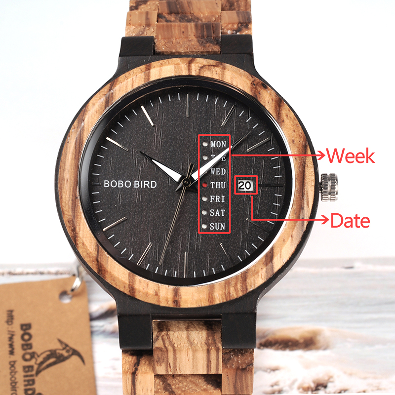 O26-BOBO BIRD Fashion Wooden Calendar watch (15)