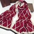 2016 мода зима шарф люксовый бренд женщин большой размер плед шарф женщина дизайнер теплый кашемир мыс пончо, шали и Шарфы