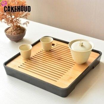 CAKEHOUD chinois Kung Fu thé ensemble thé Table Service plateau bambou thé plateau soucoupe voyage sec bulle plateau thé cérémonie accessoires