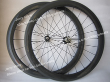 wholesale,free shipping carbon Wheelset T-50 Tubular 3K weave wheels 50mm