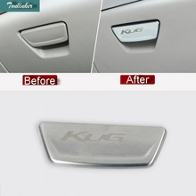 Tonlinker 1 PCS DIY Car Styling NEW Stainless Steel with Logo Glove Box Handle Sticker Cover