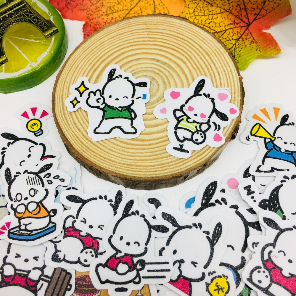 36 Pcs/lot Cute Smill Dog Scrapbooking Stickers  Car Case Waterproof  Laptop Bicycle Notebook Backpack  Waterproof Sticker
