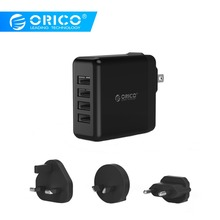 ORICO USB Traver Charger 4 Ports USB Super Charger 5V6.8A34W Wall Charger with Converter EU UK AU Plug