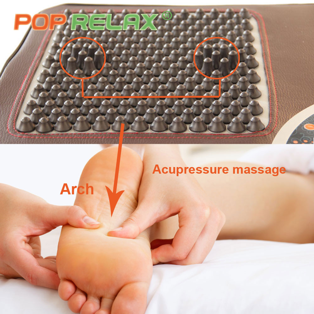 POP RELAX foot acupuncture massage mat second heart ion tourmaline germanuim electric heating foot massager massage pad mattess body slimming relax massage new dance pad non slip dancing step dance game mat pad for pc blanket relax tone leisure recreation