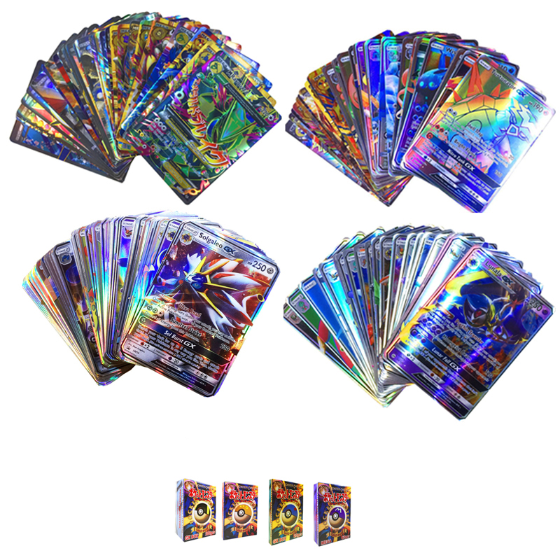 12 Styles GX MEGA Shining Cards Game Battle Carte 100pcs Trading Cards Game Children Pokeball Toy For Kid Gift