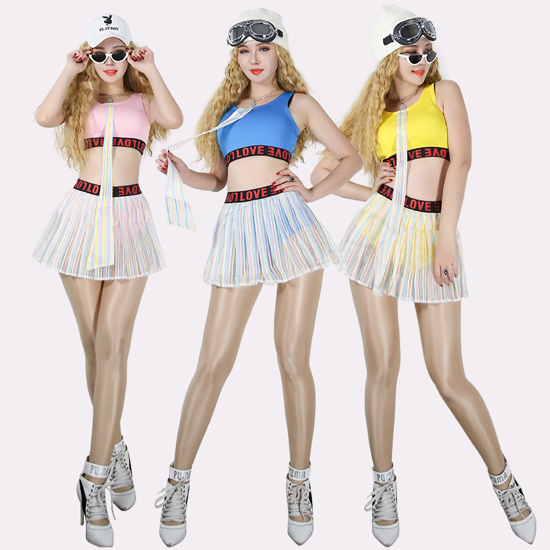 Nightclub Stage Costume Jazz Team Cheerleading Dance Costumes Festival Outfit Hip Hop Singer Clothes Performance Wear DN2914