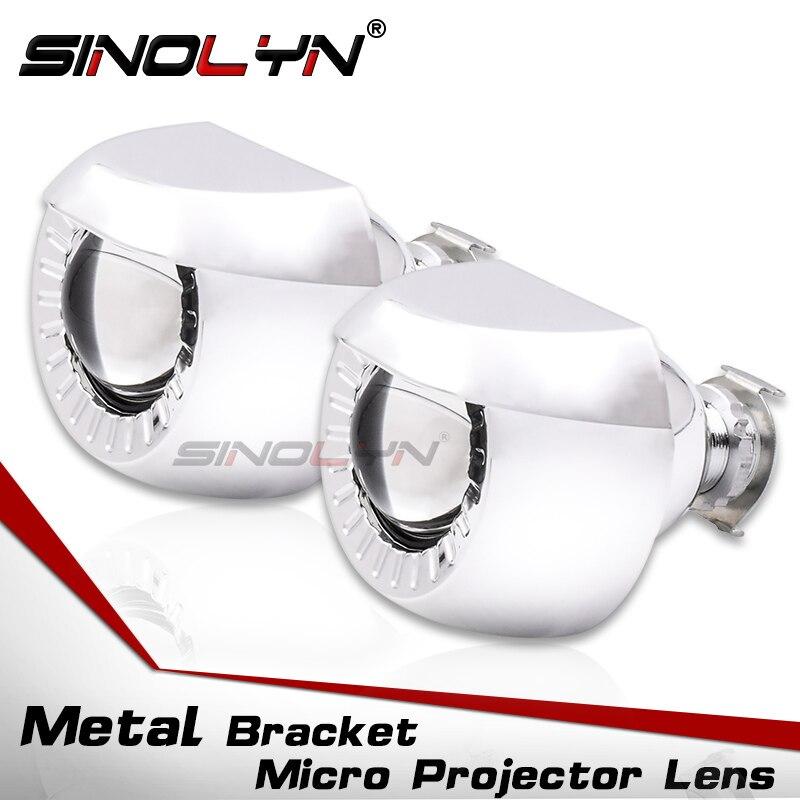 1,8 ''Kleinste Micro HID Bi xenon Scheinwerfer Nebelscheinwerfer Projektor Objektiv Mit Wanten LHD RHD Für Autos/Motorrad H7 h4 Auto Styling