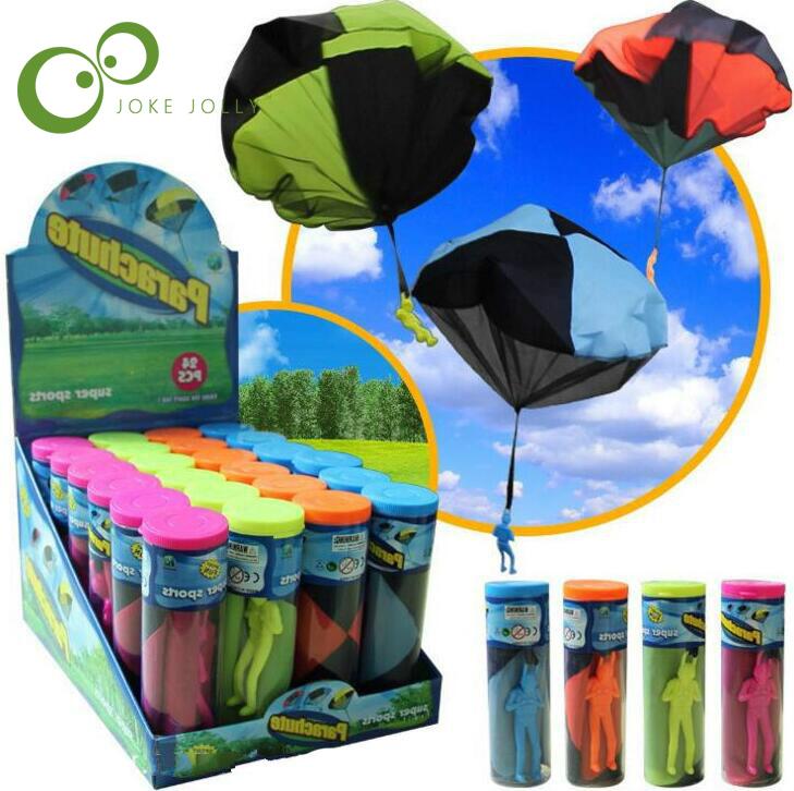 mini paracadas paracadas de juguete juego de la mano que lanza al aire libre juegos de