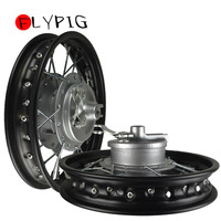 Black Front & Rear Alum wheels rims 10 10 inch For CRF50 XR50 Pit Bike Stock Drum D10
