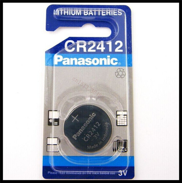 100% Original New For Panasonic CR2412 3V Lithium Coin Watch Key Fobs  Battery For Swatch