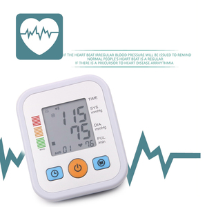 Image 5 - חשמלי Tonometer למדידת לחץ דם זרוע העליונה לחץ צג רפואי ציוד מכונה פעימות לב