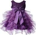 Nueva Niña Flor Tutu Capas Princesa Del Partido Del Vestido de dama de Honor de Boda Del Desfile Del Vestido de Los Niños del regalo de Navidad de cumpleaños