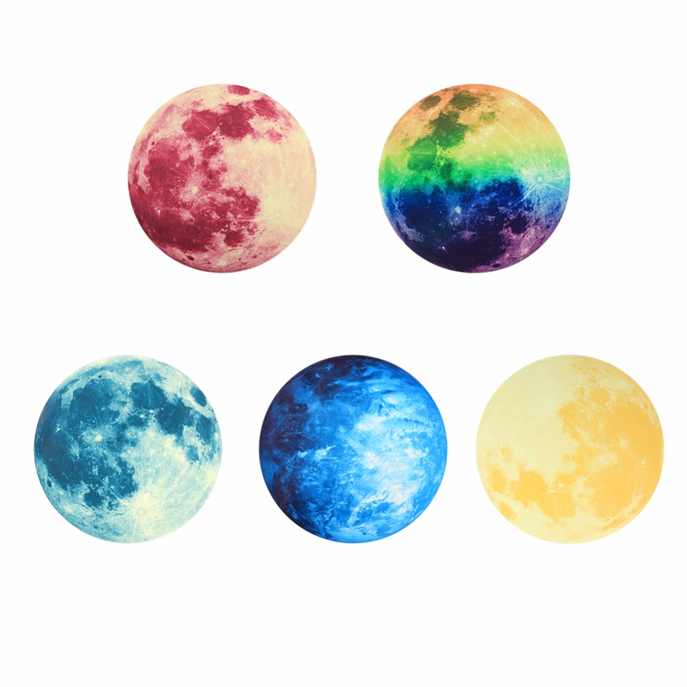 Creative Kidu0027s Room Wall Sticker 5 Patterns 30cm Luminous Moon Earth Planet  Wall Stickers Decal Moonlight Home Decor In Wall Stickers From Home U0026  Garden On ...
