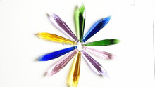 20pcs 76mm MIXED COLORS CHANDELIER CRYSTAL U-DROP PRISM LAMP PENDANT Free Shipping