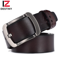 DESTINY Men Belt Luxury Famous Brand Designer High Quality Genuine Leather Belt Strap Male Vintage Wide