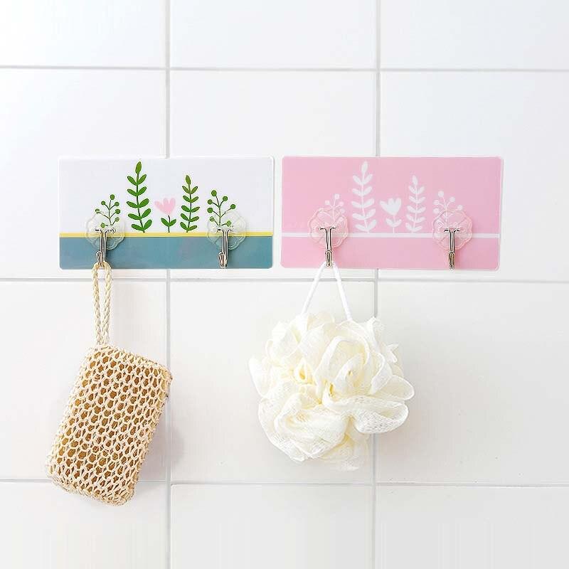 Lasperal Pvc Wall Door Sticky Hooks For Hanger Kitchen Bathroom