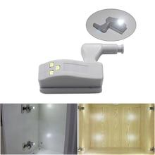 Светодиодный датчик под освещение шкафа универсальная внутренняя шарнирная лампа для кухонного шкафа светодиодный Armario датчик ящика ночник YSL137