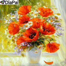 DiaPai Diamond Painting 5D DIY 100% Full Square/Round Drill Flower landscape Diamond Embroidery Cross Stitch 3D Decor A24666 diapai 100% full square round drill 5d diy diamond painting flower landscape diamond embroidery cross stitch 3d decor a21095