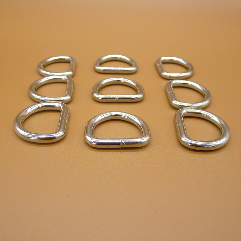 100 pcs/pack 20mm Nickel Plated D Ring for 20mm Webbing needlework metal accessory DIY Dog Collar Dog Leash And Bag DK20S