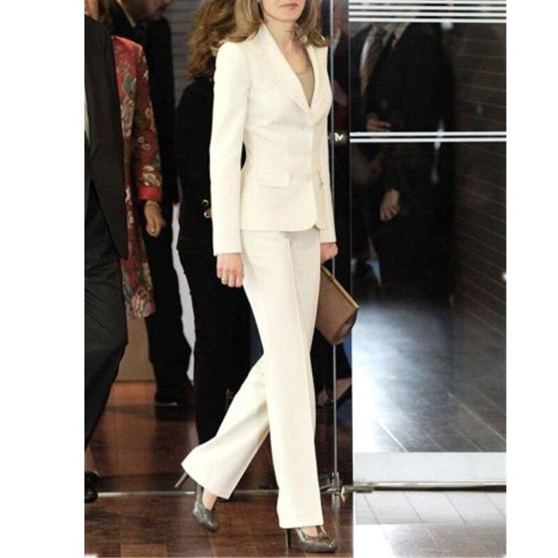 Women Pant Suits Women's Dress Suits Formal Business Office Sized Smoking Jacket + Pants Suits New tahari women s woven dress pant 4p taupe beige