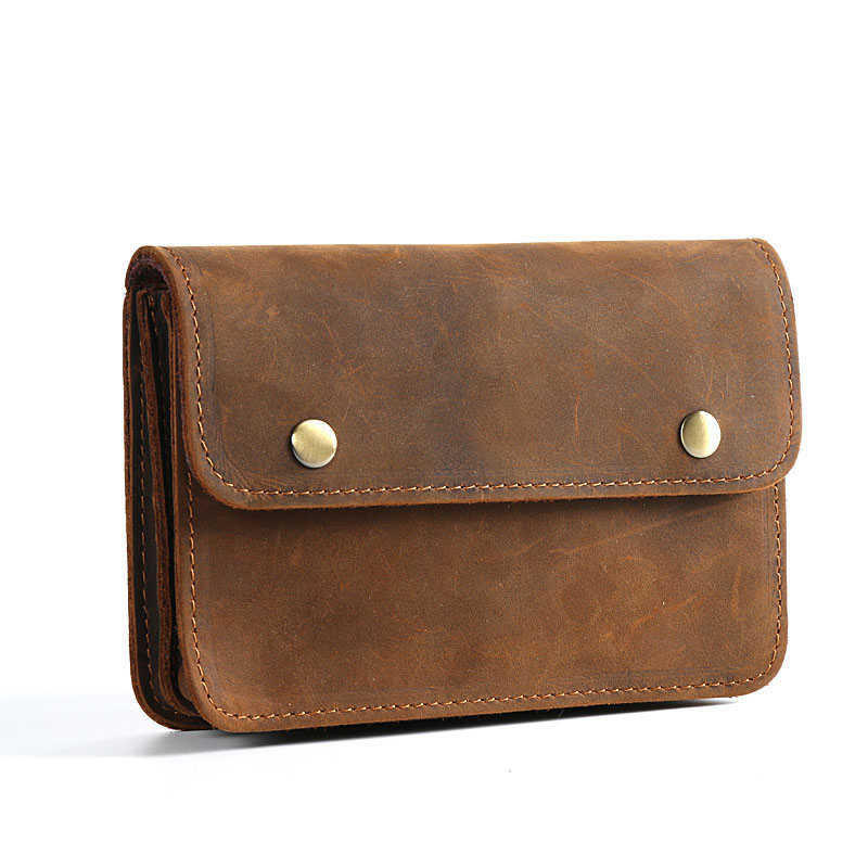 Men Document Bag Mini Genuine Leather Cowhide Small Document Bags File Holder For Business Travel Portable Tool