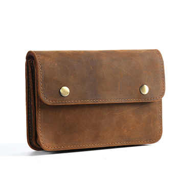 Men Document Bag Mini Genuine Leather Cowhide Small Document Bags File Holder for Business Travel Joy Corner - DISCOUNT ITEM  0% OFF All Category