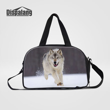 Dispalang Men's Travel Bags Wolf Animal Print Crossbody Luggage Bag Large Capacity Women Totes Duffle Bag Weekend Shoulder Bag