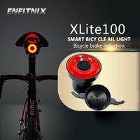 ENFITNIX Bicycle taillights Intelligent sensor Brake lights usb xlite100 Road bike MTB Rear taillights & Number plate bracket