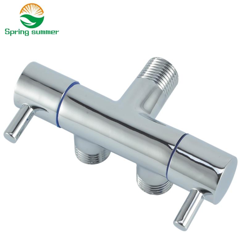 SPRING SUMMER Double Function Switch Toilet Faucet Bathroom Hand Bidet Sprayer Angle Valve