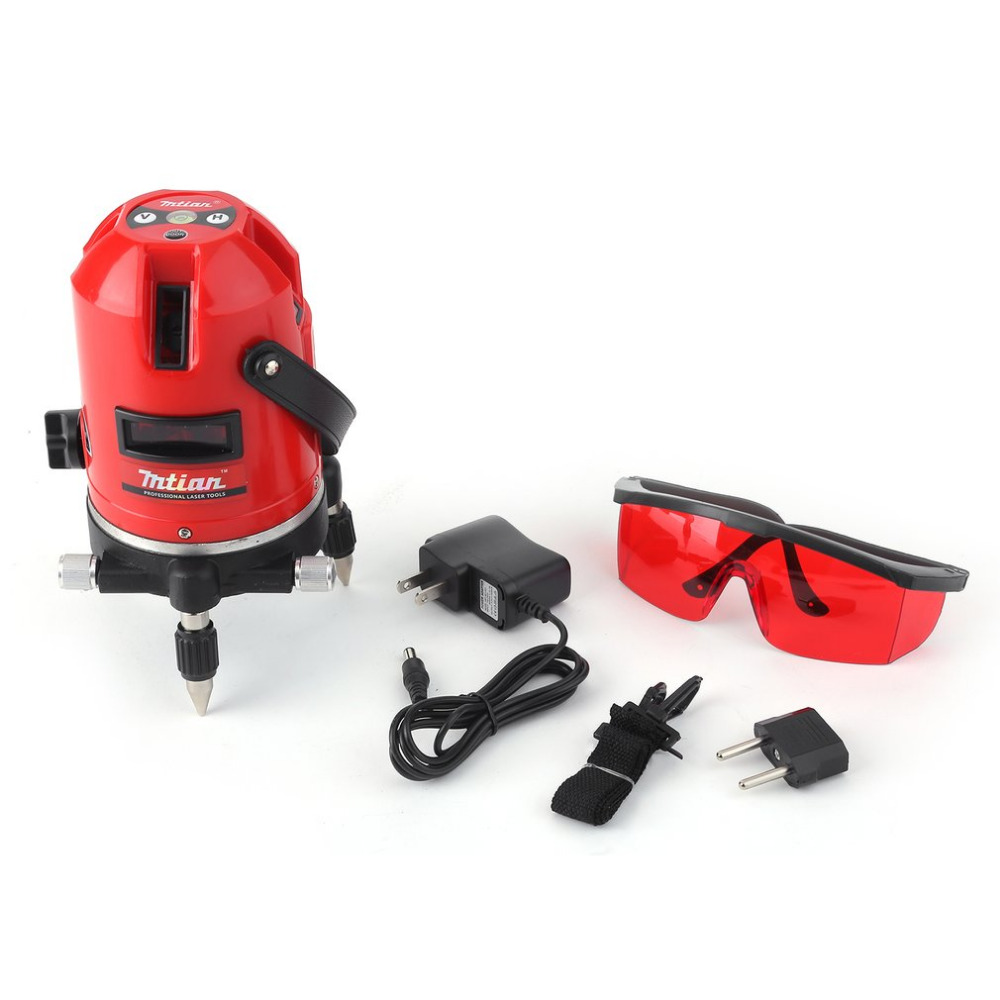 Mtian Level Laser 5 Lines 6 Points Instrument Levels 360 Self Rotary 635nm Corss Line Lazer Level Tools Wholesale Promotion Sale fivepears laser level tools 5 lines 6 points level tilt function 360 rotary self lleveling outdoor eu 635nm green corss line
