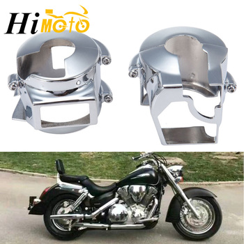 Chrome Motorcycle Handlebar Switch Housings Cover For Honda Shadow VT 600 VLX600, VTX 1300 2003-2009, VT1300 2010 2011 2012 2013 image