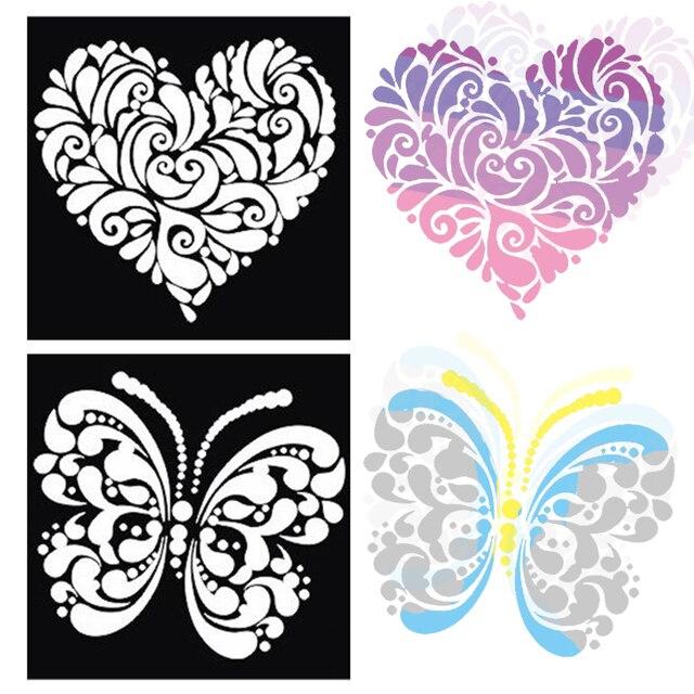 Aliexpress.com : Buy 1pcs Butterfly Heart Dragon Bird Large Airbrush ...