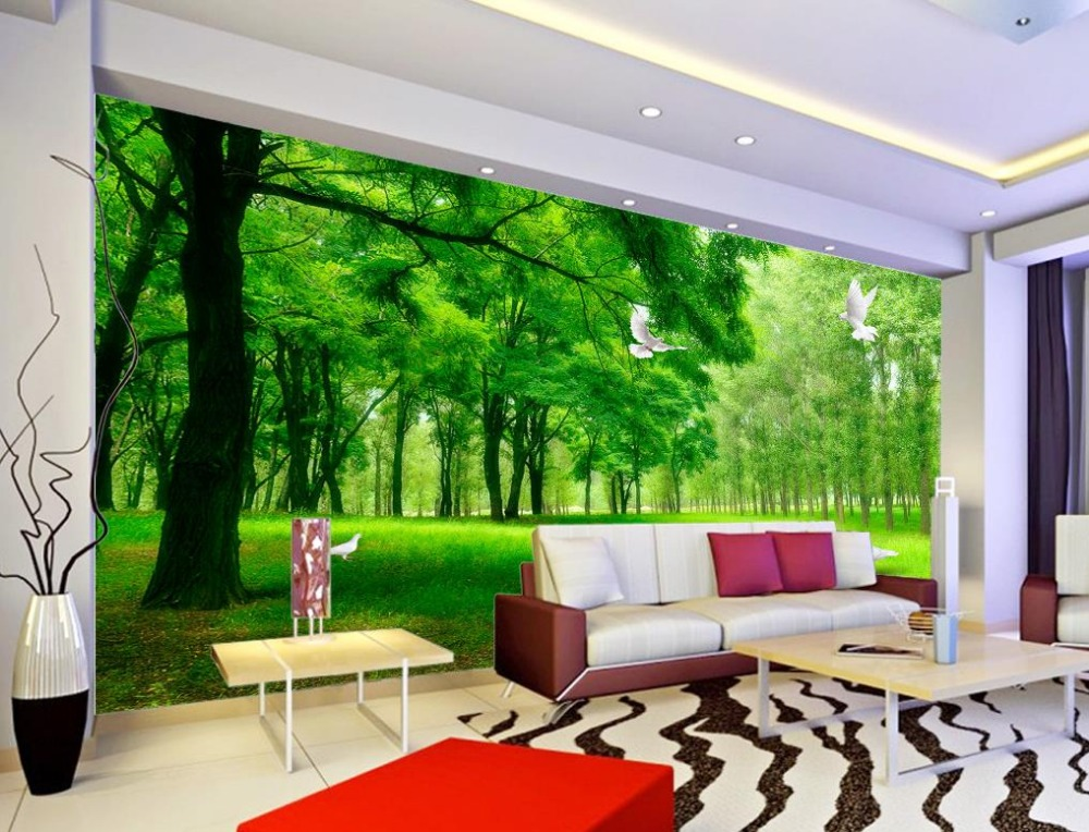 3d wallpaper nature forest health 3d stereoscopic tv for 3d photo wallpaper for living room