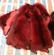 Dyed raccoon fur pelt actual Raccoon Raccoon fur skin