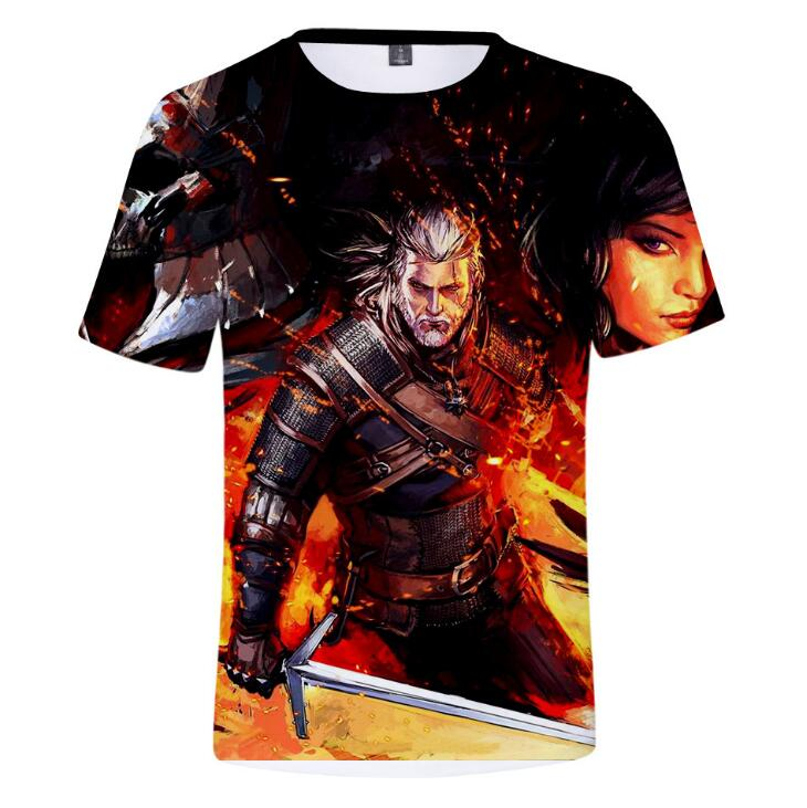 New The Witcher Summer 3D Hot Print T shirt men round collar short sleeve T shirt men fashion 3d t shirt short sleeves Clothes in T Shirts from Men 39 s Clothing