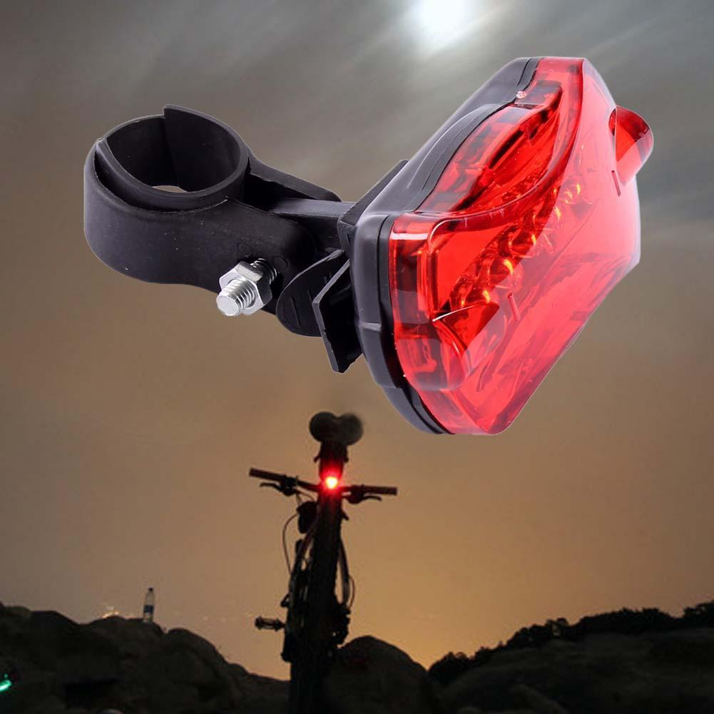 LED USB Rechargeable Bicycle Bike Cycling Rear Tail Light 5 Modes Flashlight AA