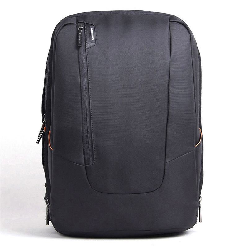 15 Inch Black Fashion Slim Laptop Backpack Business Computer Bag With Earphone Port Anti Theft