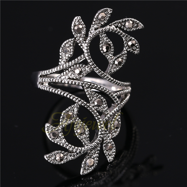 Ajojewel Marka Boyutu 6-9 Sıcak Satış Çinko Alaşım Siyah - Kostüm mücevherat - Fotoğraf 2