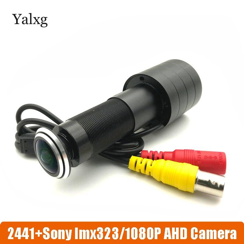 1080 p HD puerta ojo agujero CCTV AHD Mini Video cámara mirilla SONY323 2MP StarLight 0.001 Lux 170 grados cámara de vigilancia
