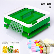 100 buraco #0 abs verde cápsula máquina de enchimento da placa enchimento manual cápsula medicina produção diy erva