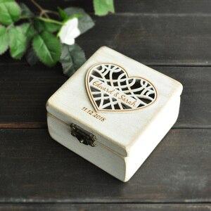 Image 2 - Индивидуальная коробка для обручальных колец, держатель для колец, подушка для обручальных колец B