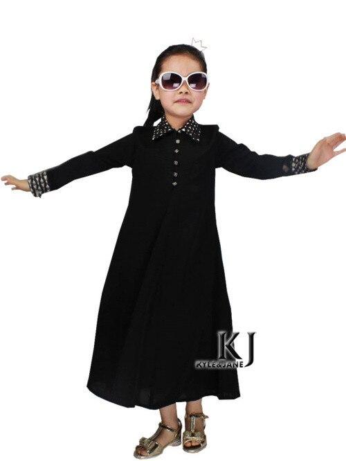 d362ffbe71bc4 2015 جديد الأسرة جاهزة الأسود طوق العباءة الأطفال التقليدية الملابس ...