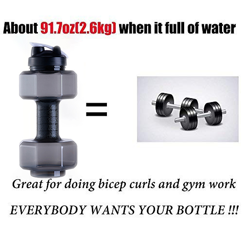 2 5 L 85 Oz Dumbbell Shaped Water Bottle Big Capacity BPA Free Flip Top Leak Proof lid 6 Colors Travel Water Jug in Water Bottles from Home Garden