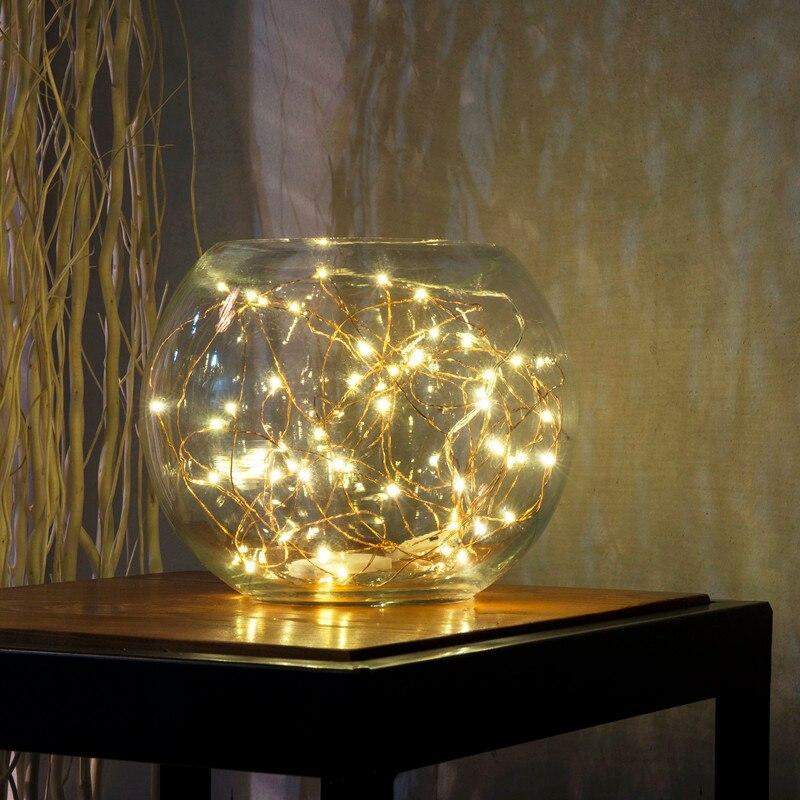 100/200/500/1000 pièces en gros 2 m 20 LED s fil de cuivre LED chaîne étoilée lumière lampe décorative pour artisanat en verre fée fête de mariage - 6