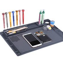 2 in 1 Heat-resistant Soldering Mat Silicone Insulation Mat Solder Desk Pad For BGA Soldering Repair Work Station