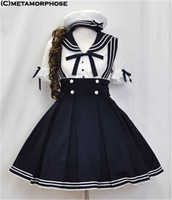 New Arrival Female Halloween Lolita Cosplay Costume Women Japanese School Uniform Sailor COS Uniform Shirt+Skirt