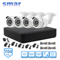 4CH Full D1 HDMI DVR Recorder Home Security System HD CMOS Sensor 700TVL 36 IR LED Outdoor Waterproof CCTV Camera Kit 20M Cable