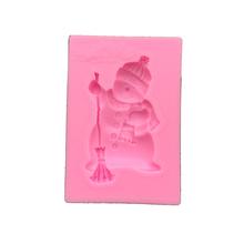 Kremówka snowman narzędzie do gotowania dekoracja formy silikonowe do pieczenia do wykrawania kształtów z masy cukrowej foremki do masy cukrowej DIY ciasto fimo tanie tanio Ciasto narzędzia Ce ue Lfgb YiPiano Ekologiczne